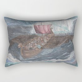 Into the Heart of the Night. Rectangular Pillow