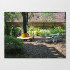 Solitude In The Backyard Garden Canvas Print