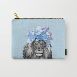 Lion with flowers Carry-All Pouch