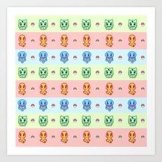 KANTO Starter Art Print