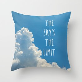 Sky's the limit - cloudscape Throw Pillow