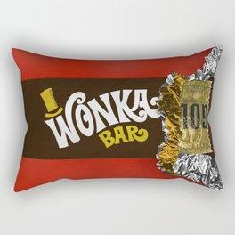 wonka chocolate bar with golden ticket iPhone 4 5 6 7 8, tshirt, mugs and pillow case Rectangular Pillow