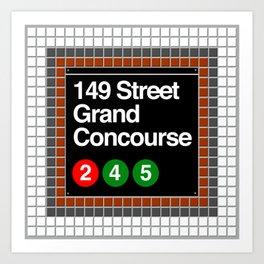 subway grand concourse sign Art Print