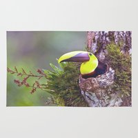 toucan Area & Throw Rugs featuring Toucan by WorldPear