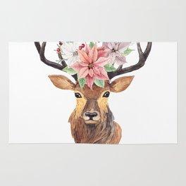 Winter Deer 3 Rug