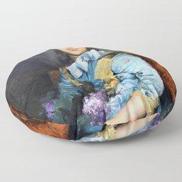 Jose Malhoa - Portrait of Laura Sauvinet - Digital Remastered Edition Floor Pillow