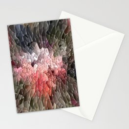 Abstract In Pink, Black And Green Stationery Cards