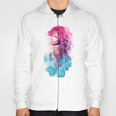 Woman in Splash of Watercolor Hoody