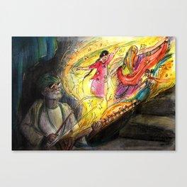 Memories of the Street performer Canvas Print