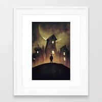 murakami Framed Art Prints featuring A Bad Dream by Mikio Murakami