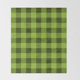 Buffalo Plaid: Green Throw Blanket