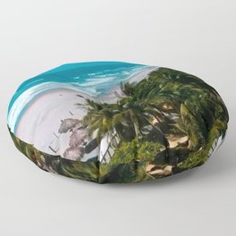 Waves and Palms Floor Pillow