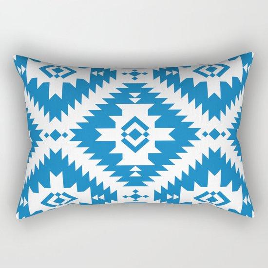 NavNa Blue Rectangular Pillow