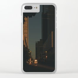 Hour of Shadows Clear iPhone Case