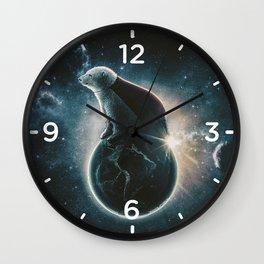 Super space bear Wall Clock