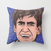 caleb troy Throw Pillows featuring Troy by turddemon