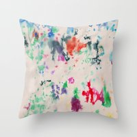 monet Throw Pillows featuring Monet Day by Ryan van Gogh