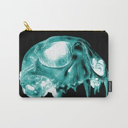 Green Inverted Kitten Sku Carry-All Pouch