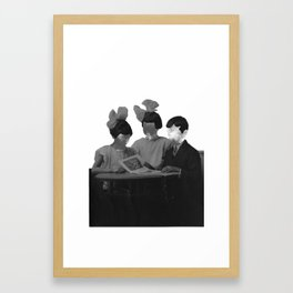 space face Framed Art Print