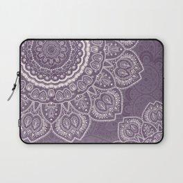 Mandala Tulips in Lavender ad Cream Laptop Sleeve