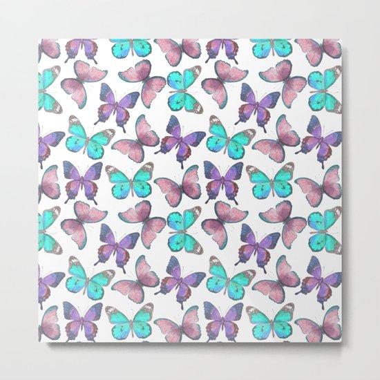 Flutter Butterfly Pattern Metal Print