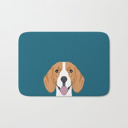 Lenon - Beagle gifts for pet owners and dog person with a beagle Bath Mat