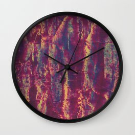 Red Blooms Wall Clock