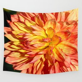 Radiant Orange Wall Tapestry