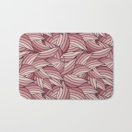 PALE DOGWOOD LEAVES B (abstract flowers nature) Bath Mat