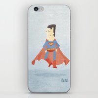 superman iPhone & iPod Skins featuring Superman by Popol