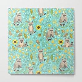 Cute raccoons Metal Print