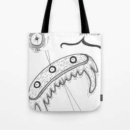 Imaginary Microscopic Water-Feelers Diagram Tote Bag