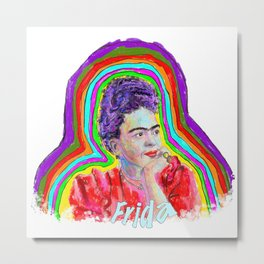 Artist Series Frida!  Metal Print