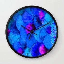 Blue Fish Wall Clock