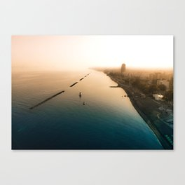 Dust over the city Canvas Print