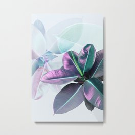 Violet Tropical Plant Metal Print