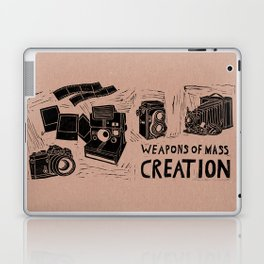 Weapons Of Mass Creation - Photography (blk on brown) Laptop & iPad Skin