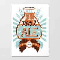 ale giorgini Canvas Prints featuring All Hail Real Ale by Kerry Hyndman