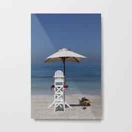Lifeguard Chair Metal Print