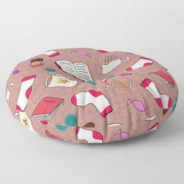 A Cozy Winter's Night Floor Pillow