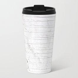 Black, White & White Metal Travel Mug