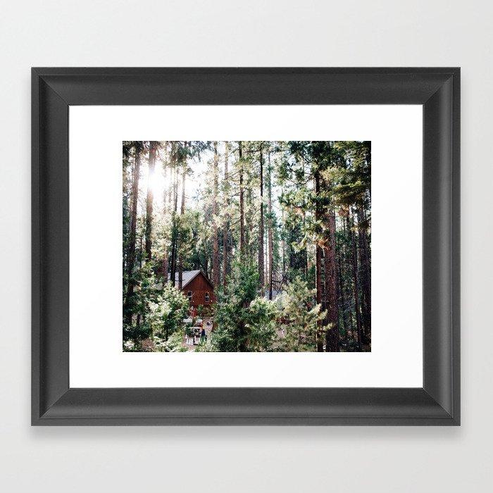 Camping in Yosemite Framed Art Print