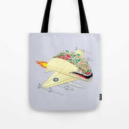 Taco Fighter Jet Tote Bag