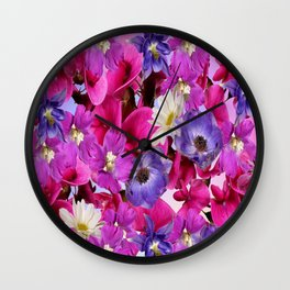 The Joy Of Spring Flowers Wall Clock