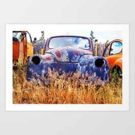 Rusty Gold Art Print