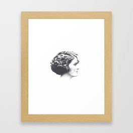 A portrait of Zelda Fitzgerald Framed Art Print
