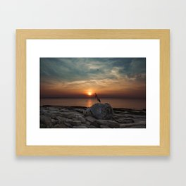 Flatrocks Sunset 2 Framed Art Print