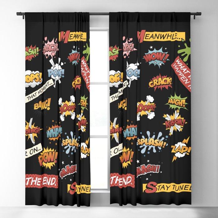Superhero Wham! Blackout Curtain