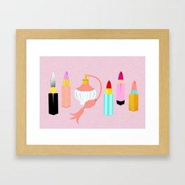 Dangerous Lipsticks Framed Art Print