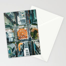 Aerial Cityscape View (Color) Stationery Cards